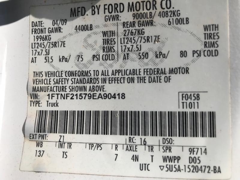 FORD F250 SUPER DUT 2009 price $12,499