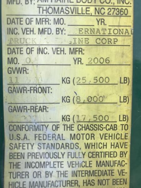 INTERNATIONAL 4300 DT466 2007 price $13,999