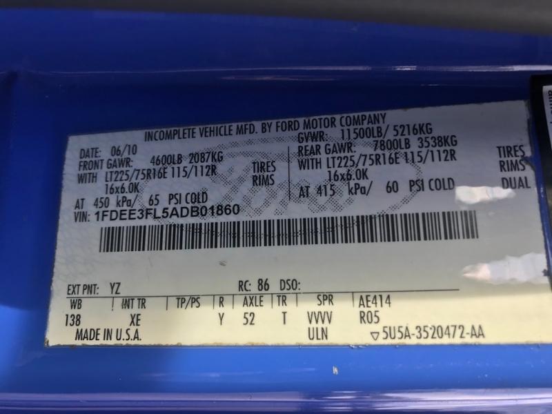 FORD E350 SHUTTLE 2010 price $6,750