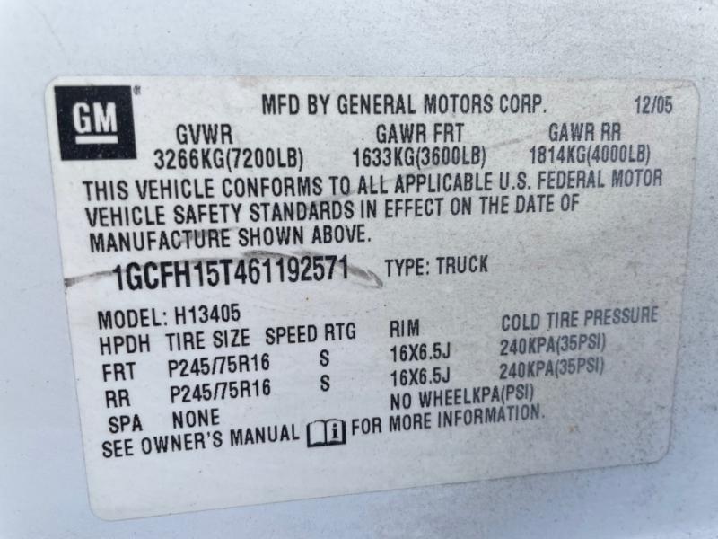CHEVROLET G1500 AWD 2006 price $12,499