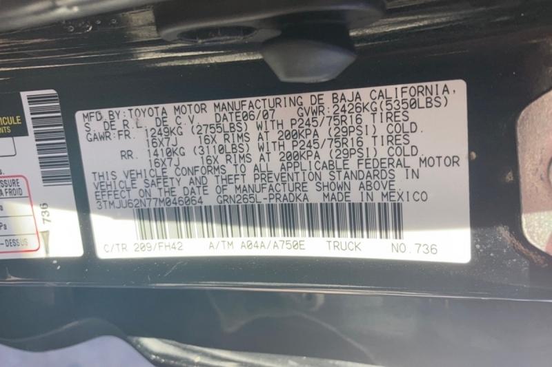 Toyota Tacoma 2007 price $10,500