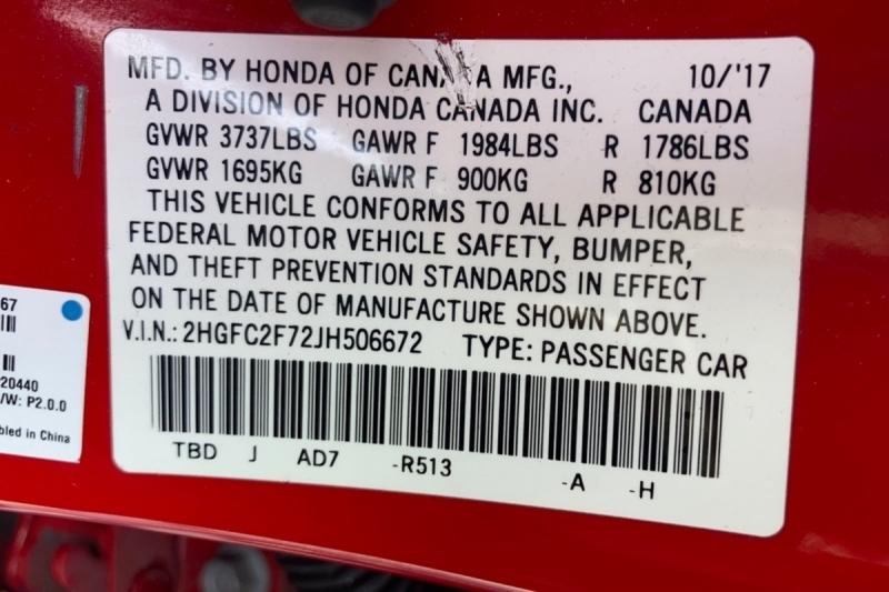 Honda Civic Sedan 2018 price $19,500