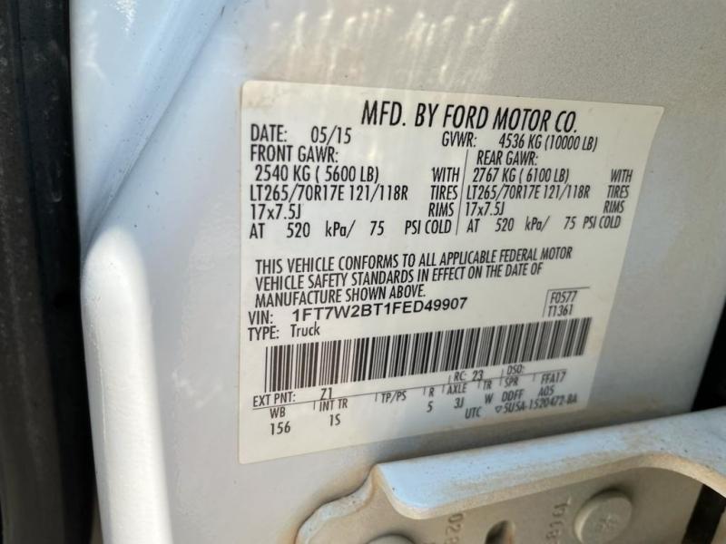 Ford Super Duty F-250 SRW 2015 price $32,000