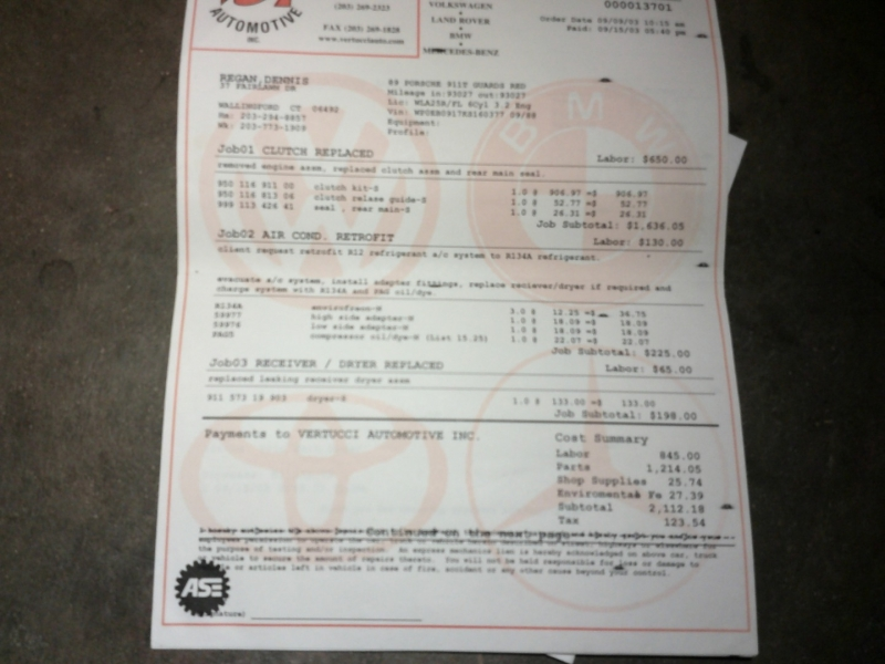 Porsche 911 Carrera 1989 price $0