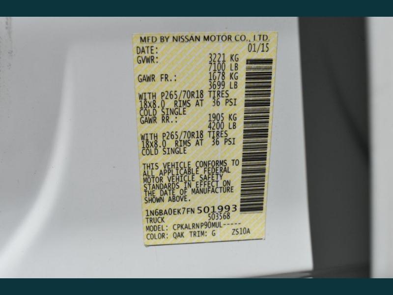 NISSAN TITAN 2015 price $18,995