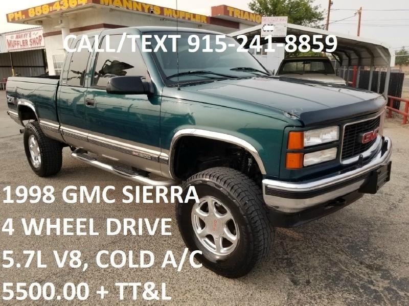 GMC Sierra 1500 1998 price $5,500