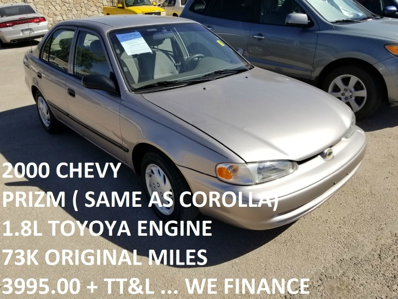 Chevrolet Prizm 2000 price $3,995