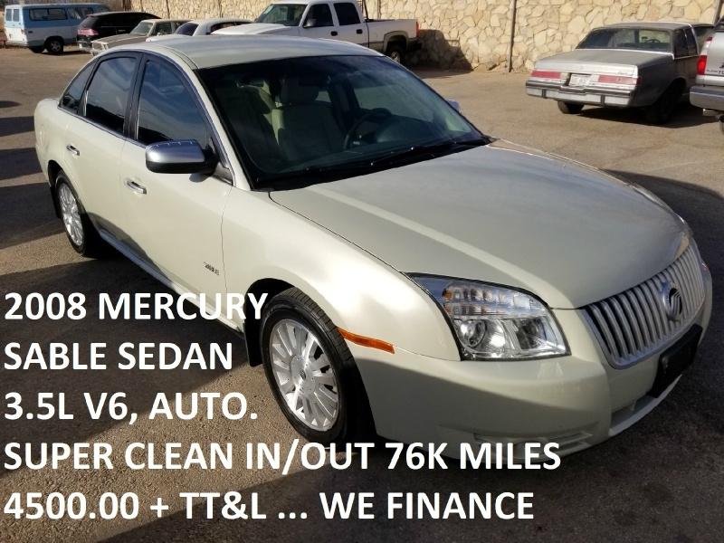 Mercury Sable 2008 price $4,500