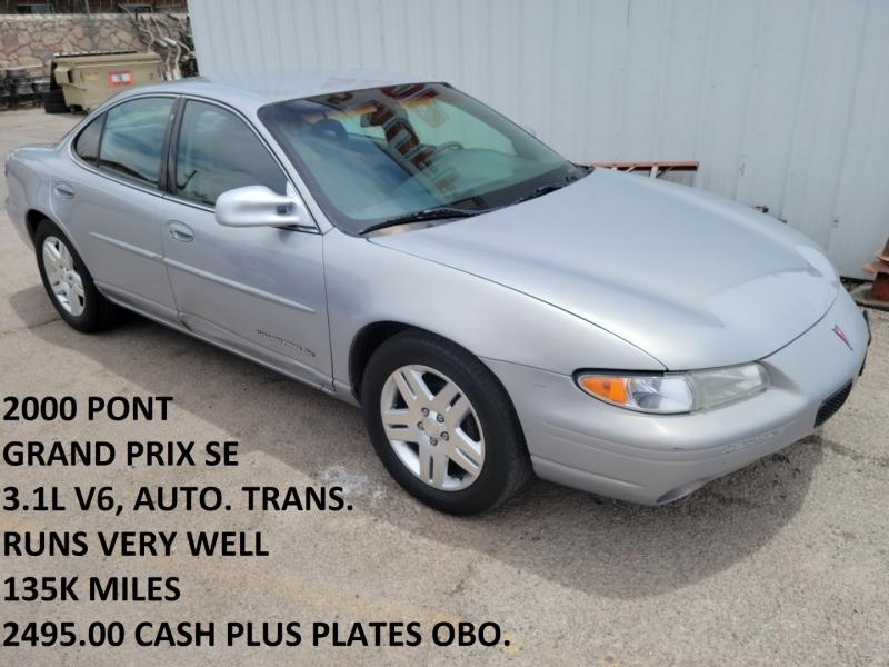 Pontiac Grand Prix 2000 price $2,495 Cash