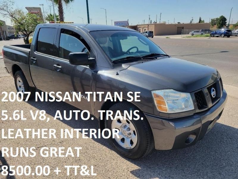 Nissan Titan 2007 price $8,500
