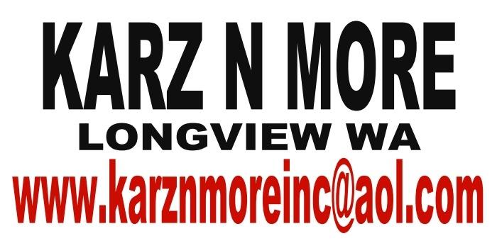 KARZ N MORE inc. M-F 10-5 SAT 10-3 SUN. Closed 360-577-1713 2021 price $0