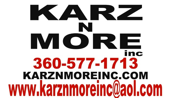 KARZ N MORE Inc. 915 TENNANT WAY LONGVIEW WA 98632 Hours M-F 10-5 Sat 10-3 Sun. Closed 2021 price $0