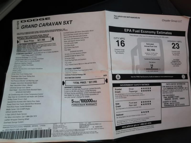 DODGE GRAND CARAVAN 2010 price $29,995