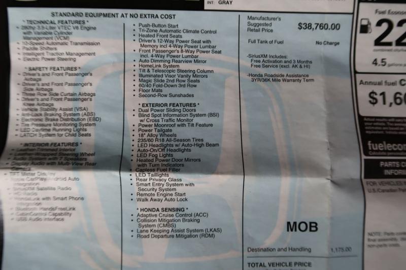 HONDA ODYSSEY 2022 price $73,770