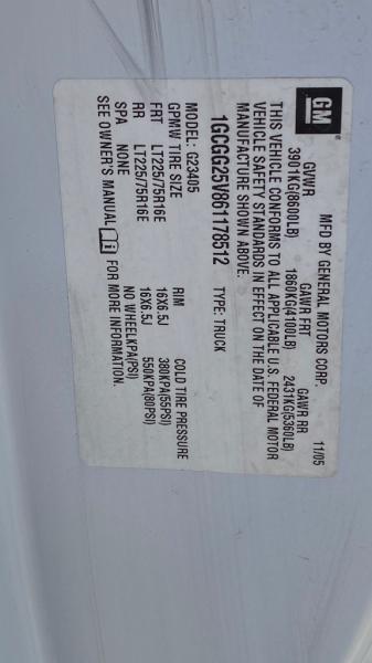 CHEVROLET EXPRESS G2500 2006 price $8,500