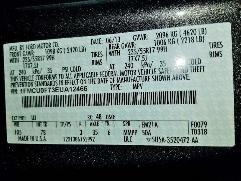 Ford Escape 2014 price $7,750