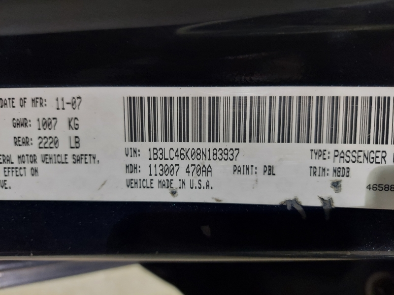 Dodge Avenger 2008 price $2,450