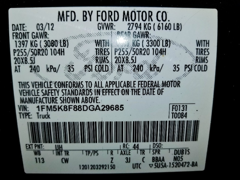 Ford Explorer 2013 price $12,350
