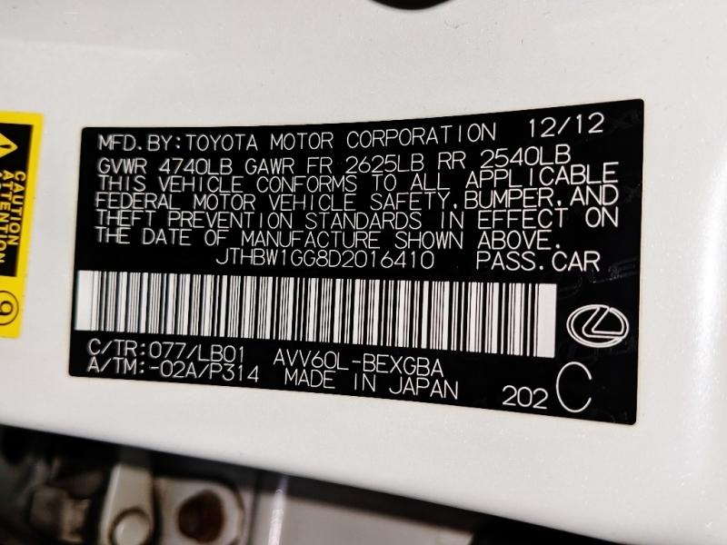Lexus ES 300h 2013 price $17,950
