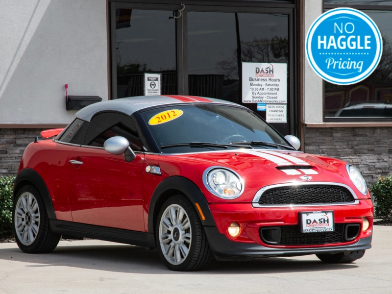 Mini Cooper Coupe S Turbo Leather Xenons Sport 6-Spd Ma 2012 price $8,500