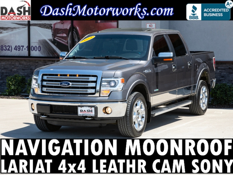 Ford F-150 Lariat SuperCrew 4WD EcoBoost Navigation Sun 2013 price $23,985