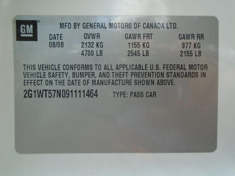 Chevrolet Impala 2009 price $4,999