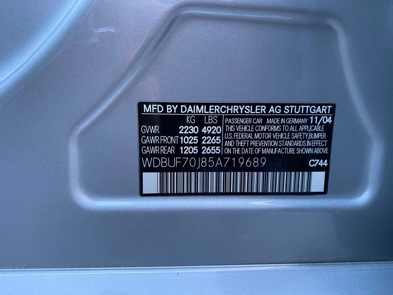 Mercedes-Benz E-Class 2005 price $5,800