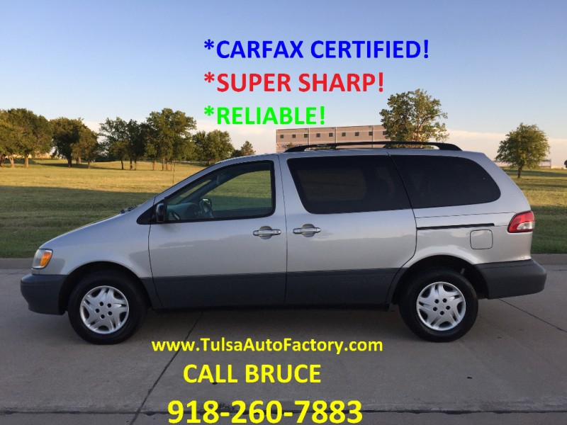 2003 toyota siennsa ce silver carfax certified 3rd row super sharp auto factory llc dealership in broken arrow auto factory