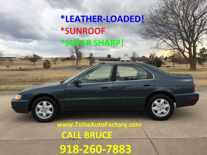 1996 Honda Accord V6 Sedan Green Auto Well Maintained 19 Service Records Leather Loaded Super S Auto Factory Llc Dealership In Broken Arrow