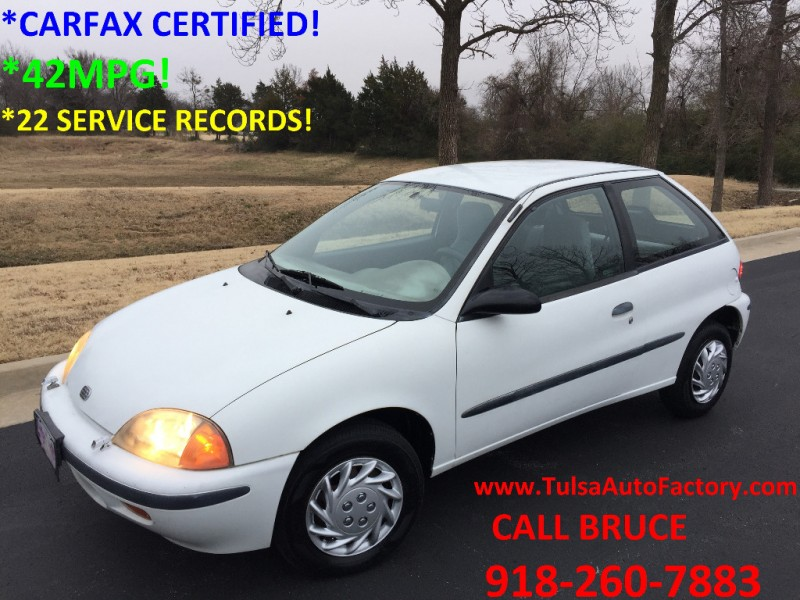 1996 Geo Metro Lsi Hatchback White Carfax Certified 42mpg Extremely Well Maintained 22 Service Auto Factory Llc Dealership In Broken Arrow