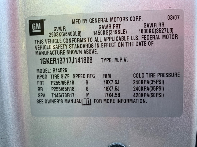 GMC Acadia 2007 price $7,395
