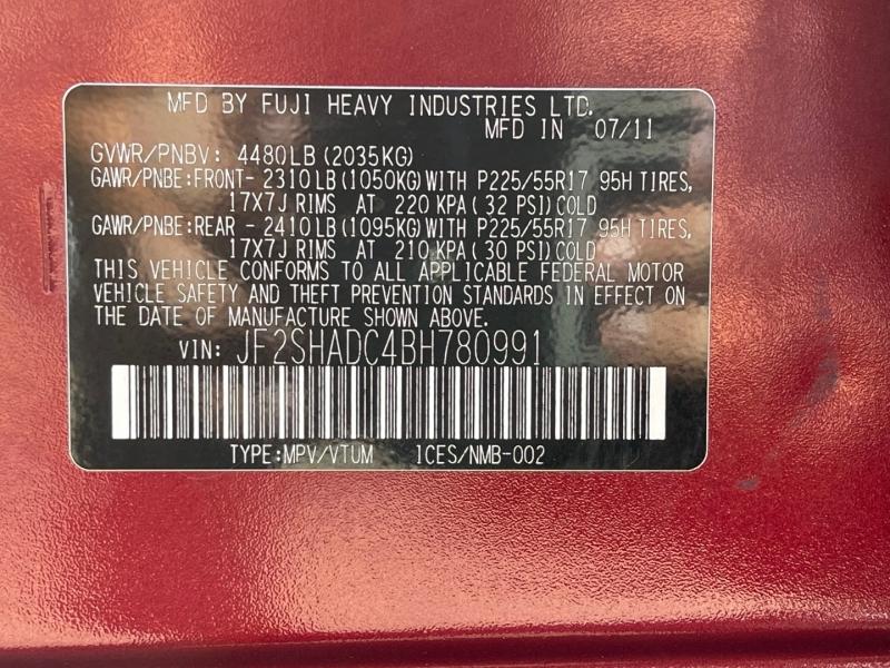 Subaru Forester 2011 price $9,950