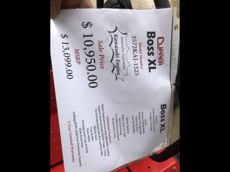 - BOSS 2020 price $10,950