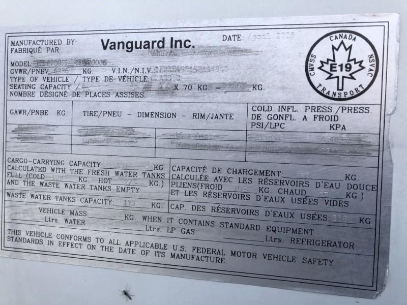 VANGUARD INDUSTRIES KODIAK VXL2700 2005 price $34,950