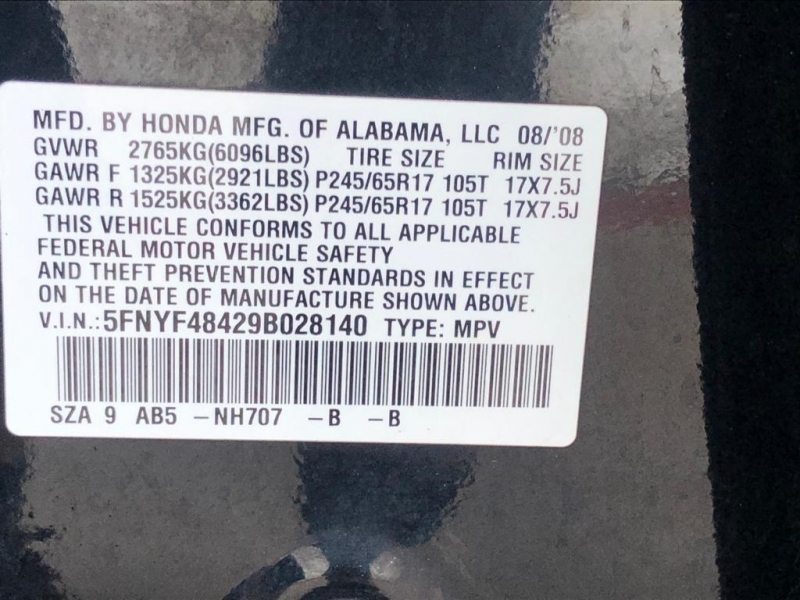 Honda Pilot 2009 price $7,577