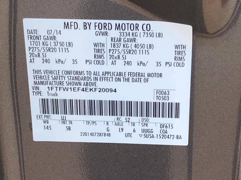 Ford F-150 2014 price $15,577