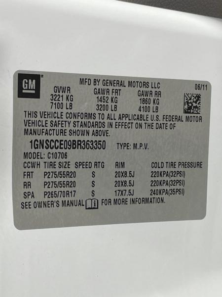Chevrolet Tahoe 2011 price $16,977