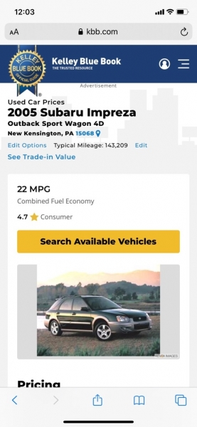 SUBARU IMPREZA 2005 price $4,695