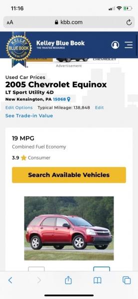CHEVROLET EQUINOX 2005 price $3,495