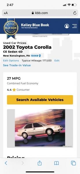 TOYOTA COROLLA 2005 price $3,995