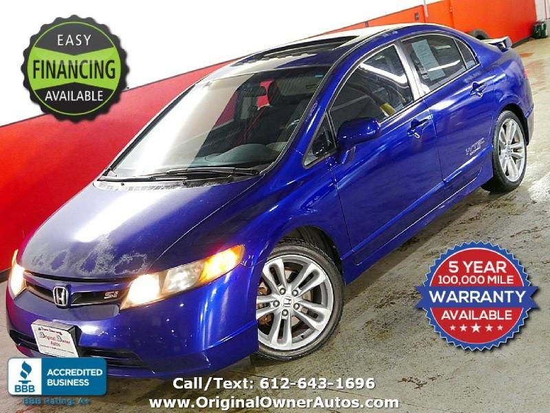 2007 Honda Civic Si Sonic Blue 6 Speed Clean And Reliable Original Owner Autos Dealership In Eden Prairie