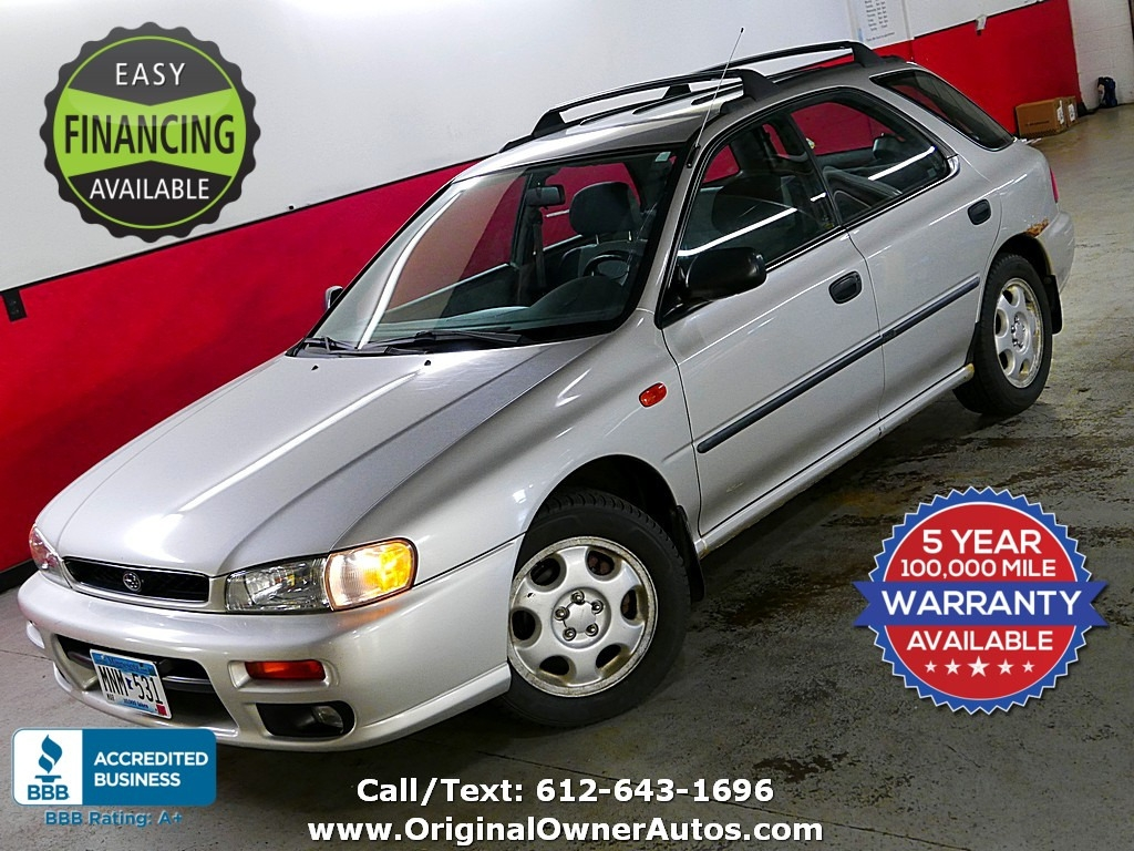 1999 subaru impreza wagon l awd just 60k miles clean original owner autos dealership in eden prairie 1999 subaru impreza wagon 5dr wgn l manual w bl equip