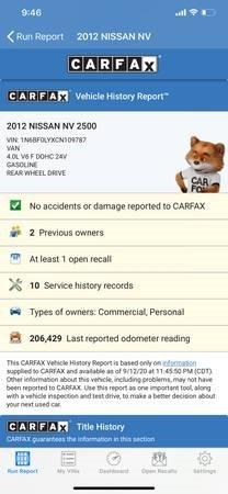 Nissan NV 2012 price $10,995