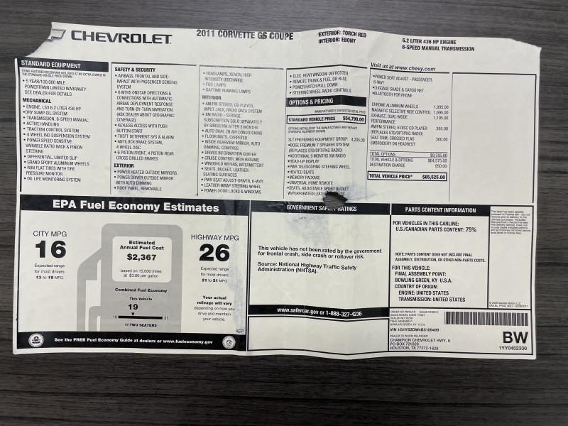 Chevrolet Corvette 2011 price Sold