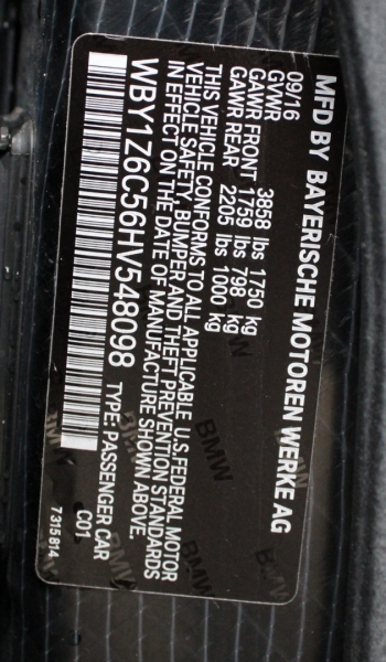BMW i3 2017 price $17,991