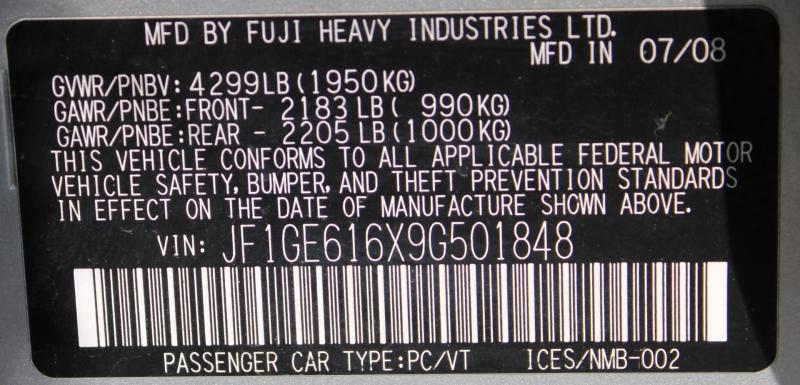Subaru Impreza Sedan 2009 price $7,499