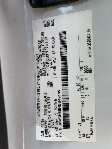 Ford Super Duty F-350 DRW 2017 price $47,900