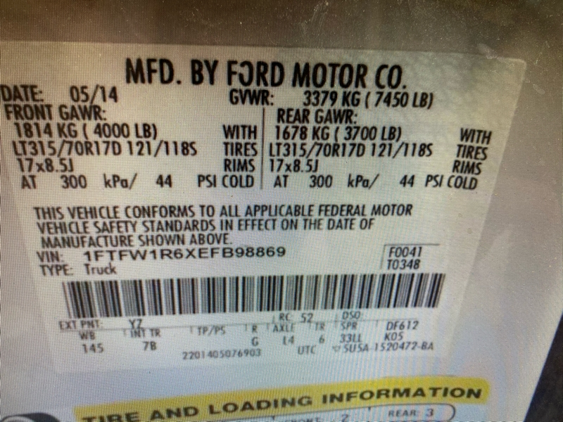 Ford F-150 2014 price $53,500