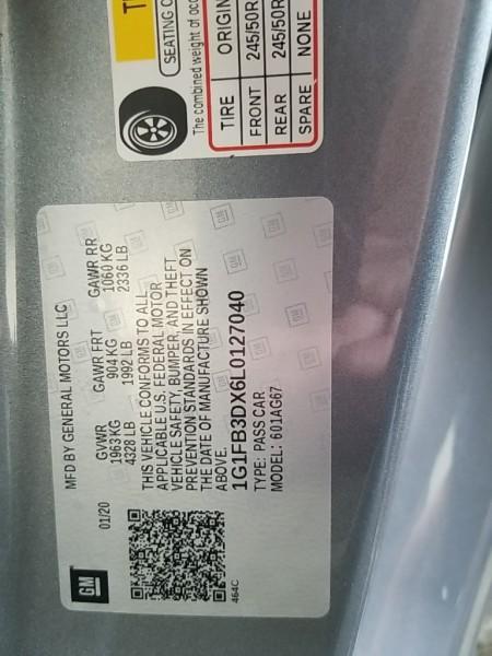 Chevrolet Camaro 2020 price $34,977