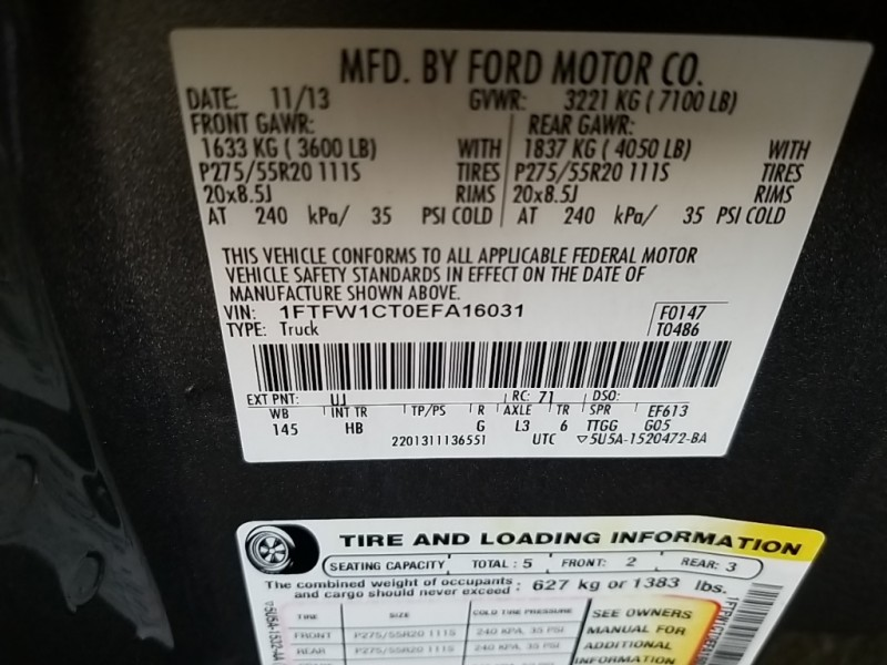 Ford F-150 2014 price $29,777